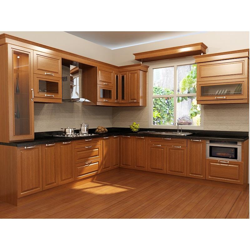 Bật mí những ưu điểm của tủ bếp gỗ tự nhiên 2
