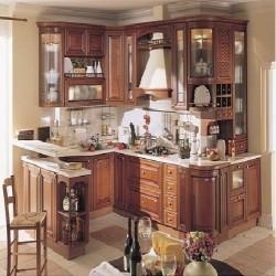 Tủ bếp gỗ xoan đào Hoàng Anh Gia Lai loại cao cấp