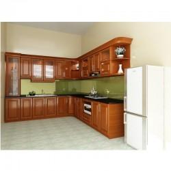 Tủ bếp gỗ xoan đào Hoàng Anh Gia Lai loại thường