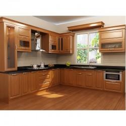 Tủ bếp gỗ Dổi xanh