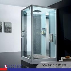 Phòng tắm xông hơi Nofer VS-89101S (R) White/Black