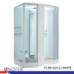 Phòng tắm xông hơi Nofer VS-89102S (L) White/Black