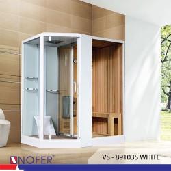 Phòng tắm xông hơi Nofer VS-89103S (R/L) White/ Black