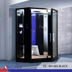 Phòng tắm xông hơi Nofer VS-89106S White/Black